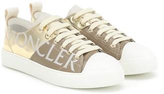 Moncler Linda metallic leather sneakers