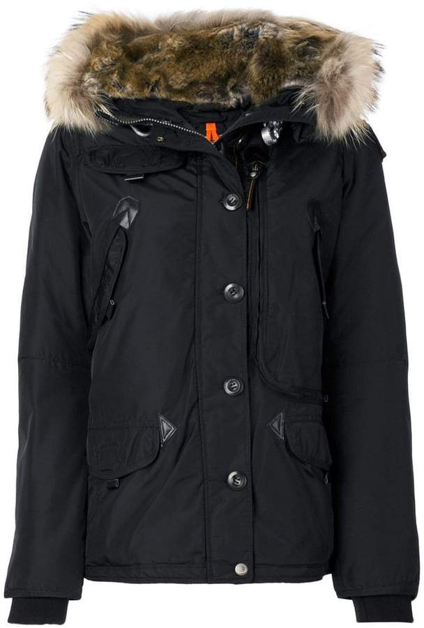 Parajumpers faux fur trim hooded coat