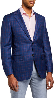 Canali Men's Plaid Wool Sport Jacket