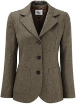 Original Montgomery Womens Tweed Blazer Mouse Herringbone