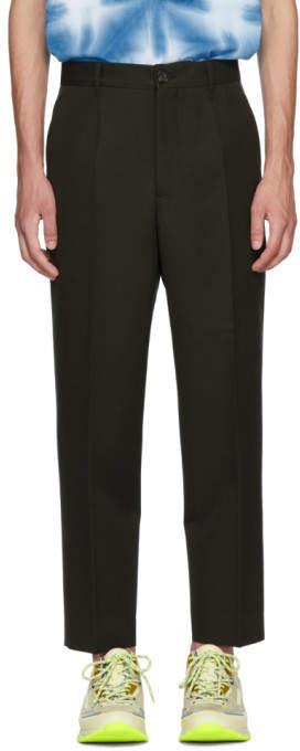 Marni Green Classic Wool Trousers