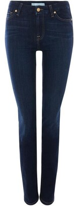 7 For All Mankind Kimmie Straight Bair Jeans In Rinsed Indigo