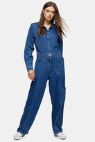 Tommy Hilfiger Womens Denim Regular Boiler Suit By Tommy Jeans - Mid Stone
