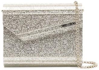 Jimmy Choo Candy glitter-embellished clutch bag