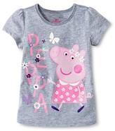 Peppa Pig Toddler Girls' Short Sleeve T-Shirt - Gray