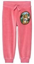Mini Rodini Fox Velour Sweatpants Pink