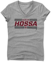 500 Level Marian Hossa Striped Font R Chicago Women's V-Neck XXL Athletic Gray