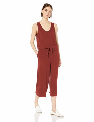 Daily Ritual Women's Standard Supersoft Terry Sleeveless Wide-Leg Jumpsuit