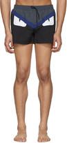 Fendi Black 'Bag Bugs' Swim Shorts