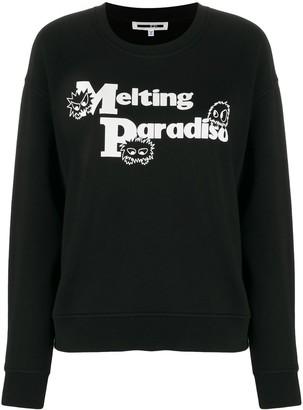 Mcq Swallow long sleeve Melting Paradise jumper