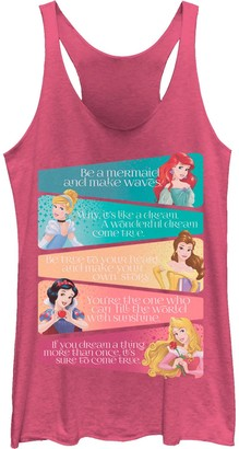 Licensed Character Juniors' Disney's Princess Adjectives Poster Tank