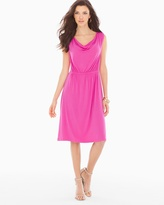 Soma Intimates Cowlneck Sleeveless Short Dress Rose Violet