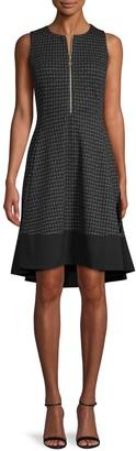 Donna Karan Textured High-Low A-Line Dress