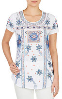 Peter Nygard Petite Embroidered Blouse