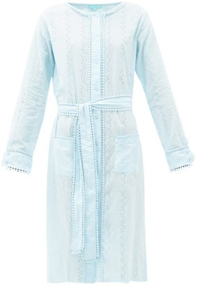 Melissa Odabash Patty Belted Cotton-voile Shirt Dress - Light Blue