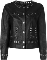 Sylvie Schimmel studded trim jacket - women - Lamb Skin - 36
