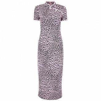Alessandra Rich Pink Silk Dresses