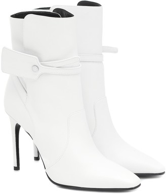 Off-White Ziptie leather ankle boots