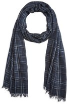John Varvatos Abstract Plaid Scarf