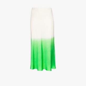 Carcel Ombre Silk Midi Skirt