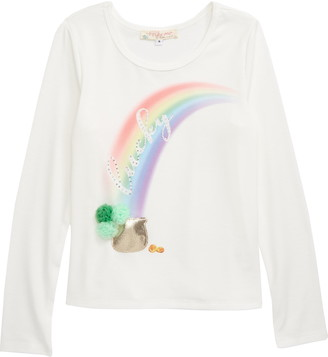 Truly Me Lucky Rainbow Long Sleeve Graphic Tee
