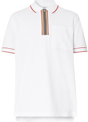 Burberry Zip-Detail Short-Sleeve Polo Shirt