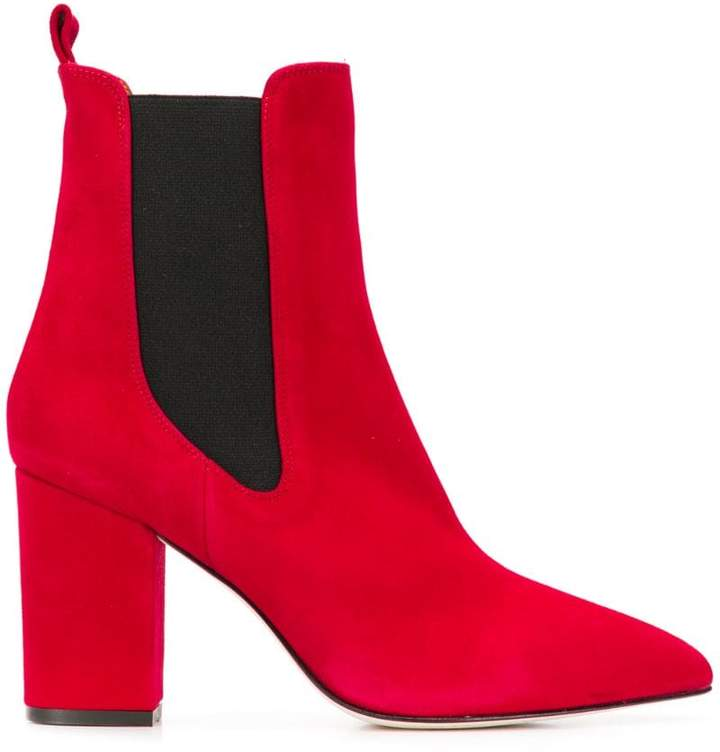 71497b6afafb Red Heeled Ankle Boots - ShopStyle
