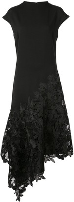 Josie Natori Lace-Panelled Dress