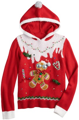 It's Our Time Girls 7-16 Christmas Gingerbread Sweater