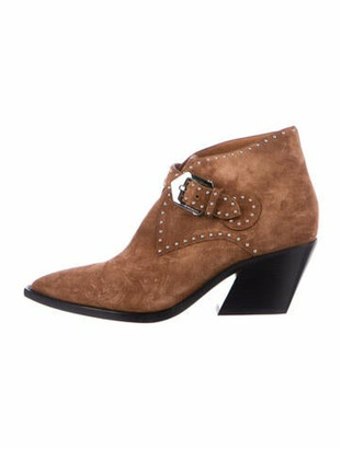 Givenchy Suede Studded Accents Boots Brown