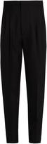 Saint Laurent High-waisted tapered-leg wool-blend trousers