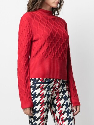 Perfect Moment Carving wave knit jumper