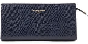 Aspinal of London Lizard-effect Leather Cosmetics Case
