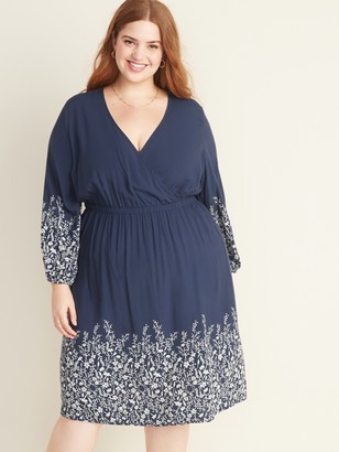 Old Navy Waist-Defined Surplice-Front Plus-Size Dress