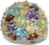 JCPenney FINE JEWELRY Sterling Silver Multi-Gemstone Cluster Ring