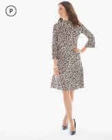 Chico's Leopard-Print Mock Neck Short Dress