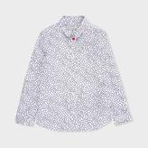 Paul Smith Boys' 7+ Years White Ant Print 'Nael' Shirt