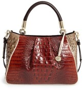 Brahmin Azuma Ruby Embossed Leather Satchel - Brown