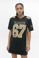 Urban Outfitters Fanatics NFL New Orleans Saints Jersey T-Shirt - black S at