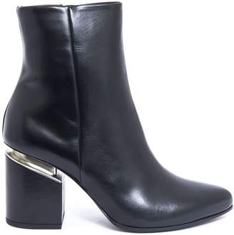 Vic Matié Black Leather Ankle Boot