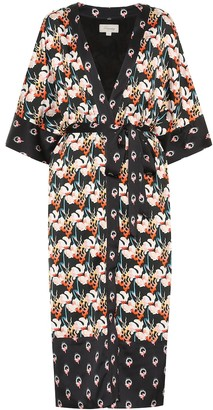 Temperley London Dragonfly printed satin kimono
