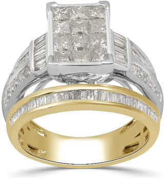 MODERN BRIDE Womens 2 CT. T.W. Genuine Diamond 10K Gold Engagement Ring