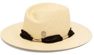Maison Michel Virginie Laced-ribbon Straw Hat - Womens - Beige