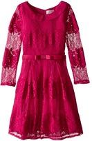 Us Angels Lace 3/4 Sleeve Peter Pan Collar Dress (Bid Kids)