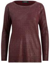 Ralph Lauren Metallic Boatneck Sweater Red Sangria Xxl