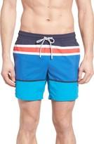 Lacoste Men's Engineered Stripe Swim Trunks