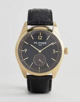 Ben Sherman WB052BG Leather Watch In Black