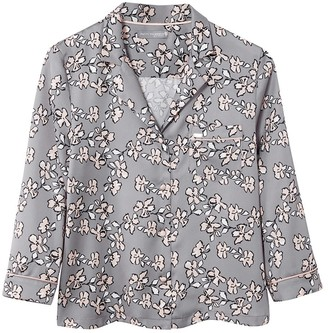 Pretty You London Mix & Match Floral Shirt In Dove Grey - Shirt Only