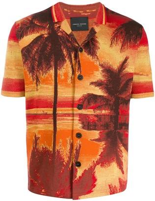 Roberto Collina Palm tree print shirt