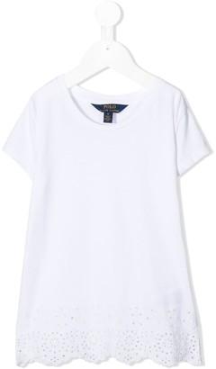 Ralph Lauren Kids embroidered hem short-sleeve T-shirt
